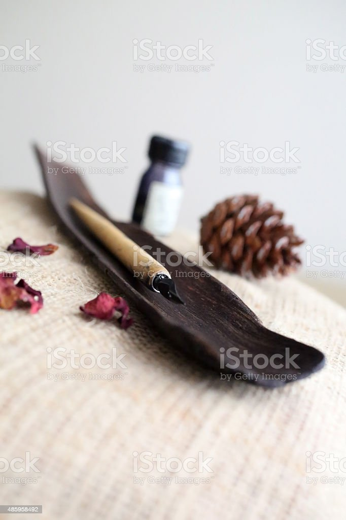Traditional calligraphy set stock photo