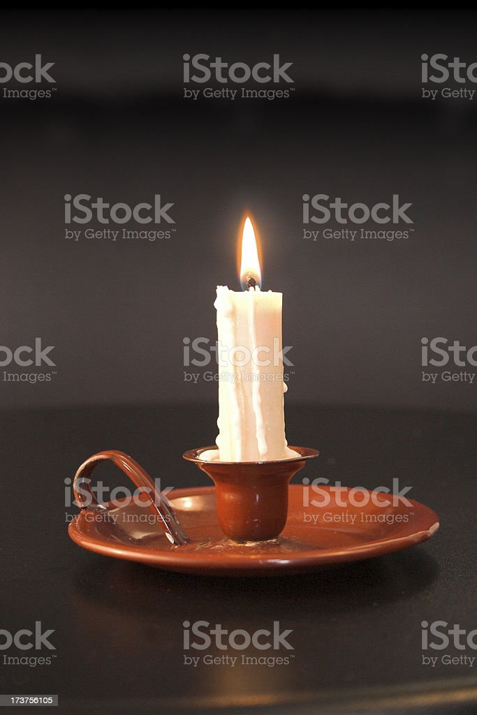 Traditional candle holder royalty-free stock photo