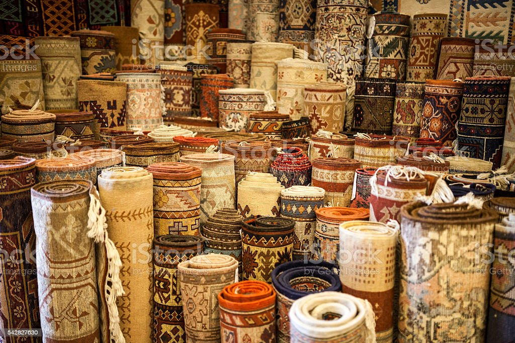Traditional Carpet Store stock photo
