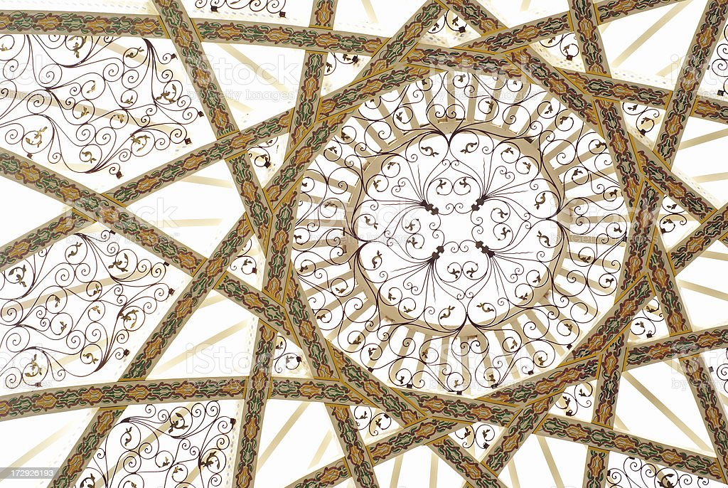 Traditional ceiling pattern in building royalty-free stock photo