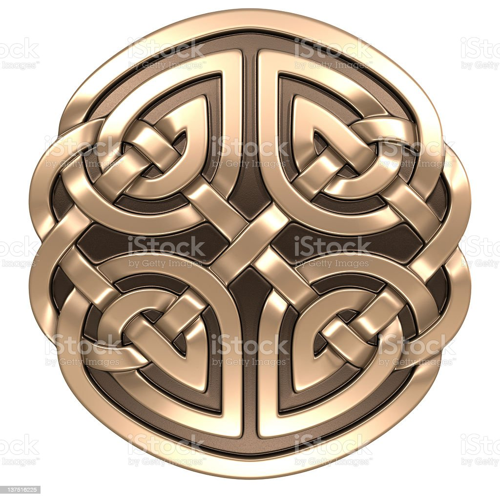 Traditional Celtic ornament in glossy image stock photo