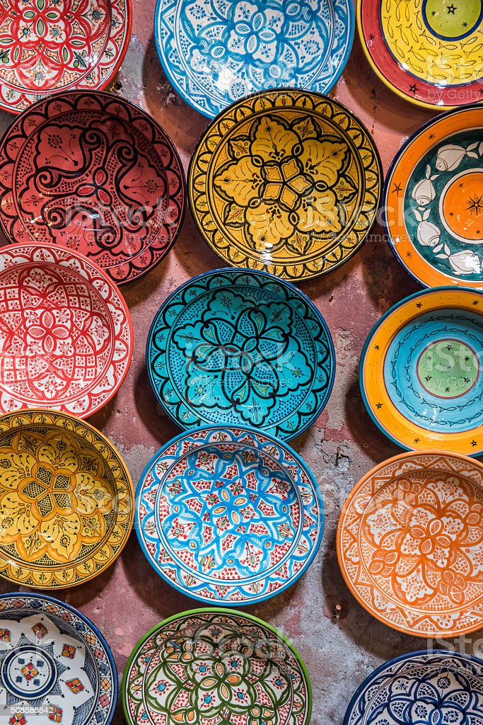 Traditional ceramic Moroccan stock photo