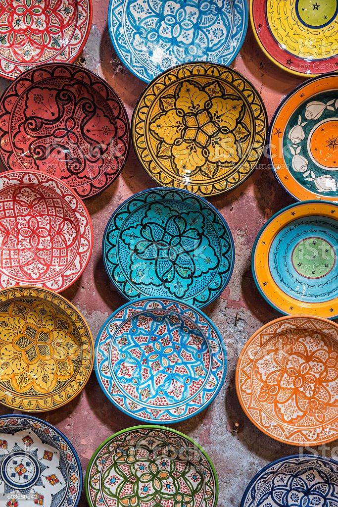 Traditional ceramic Moroccan stock photo