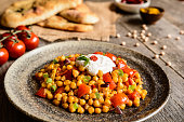 Traditional Channa Masala - spicy chick peas