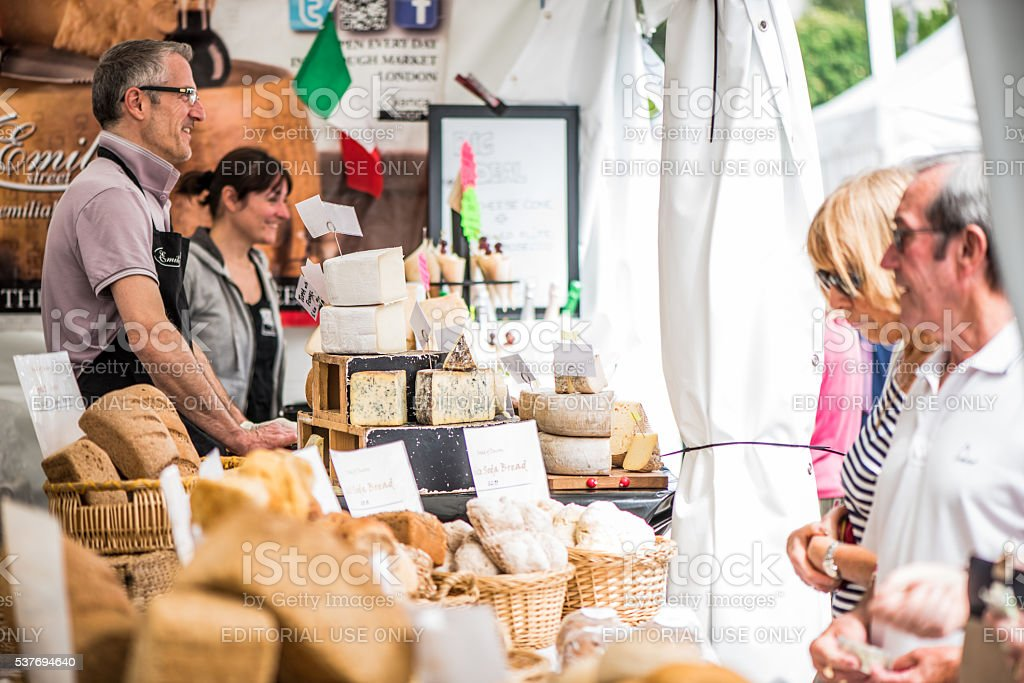 traditional cheese on food festival stock photo