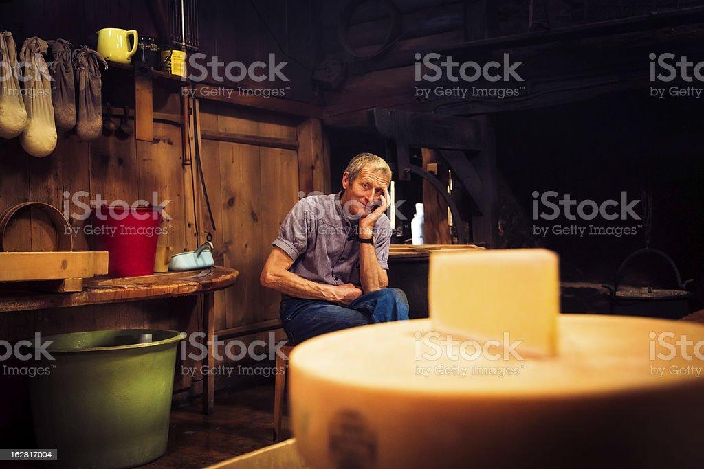 traditional cheesemaking stock photo