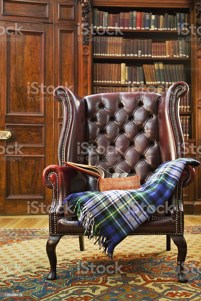 Traditional Chesterfield armchair royalty-free stock photo
