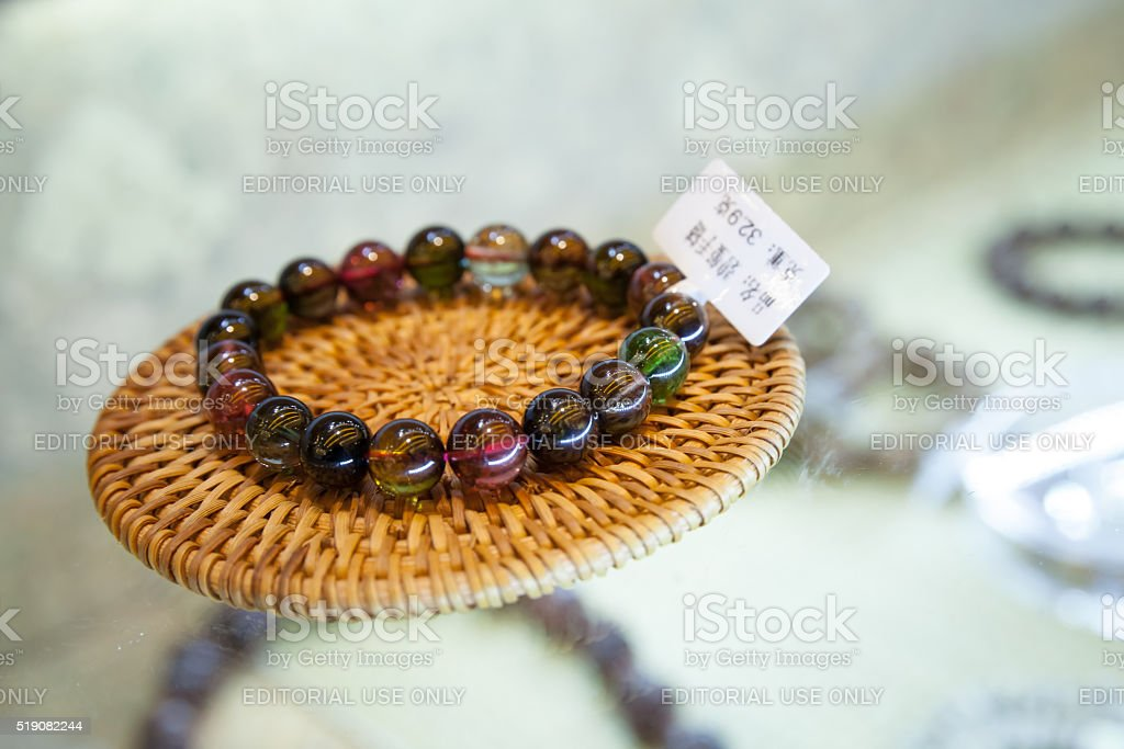 Traditional Chinese amulet in bracelet shape stock photo