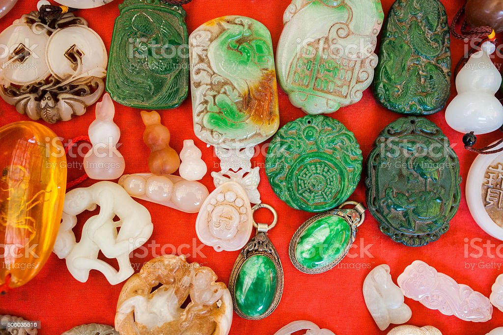 Traditional Chinese amulet stock photo