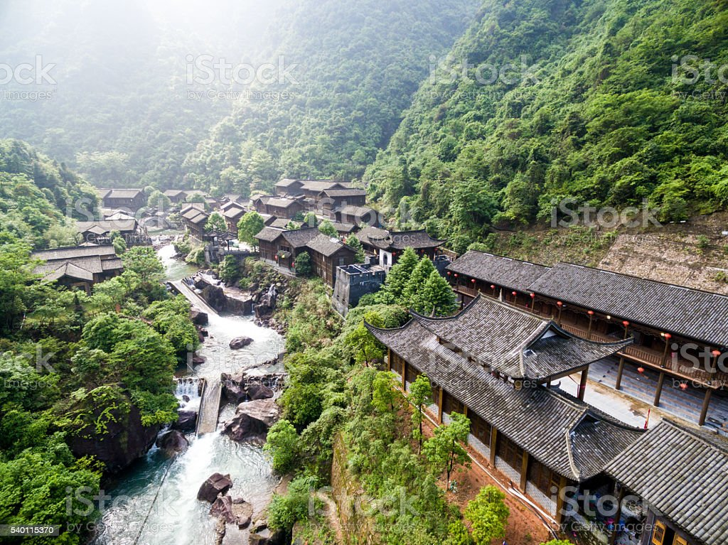 Traditional Chinese ancient architecture stock photo