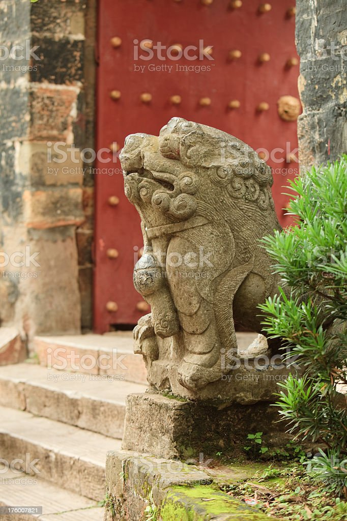 Traditional chinese architecture. Kunming, Yunnan province, South China royalty-free stock photo