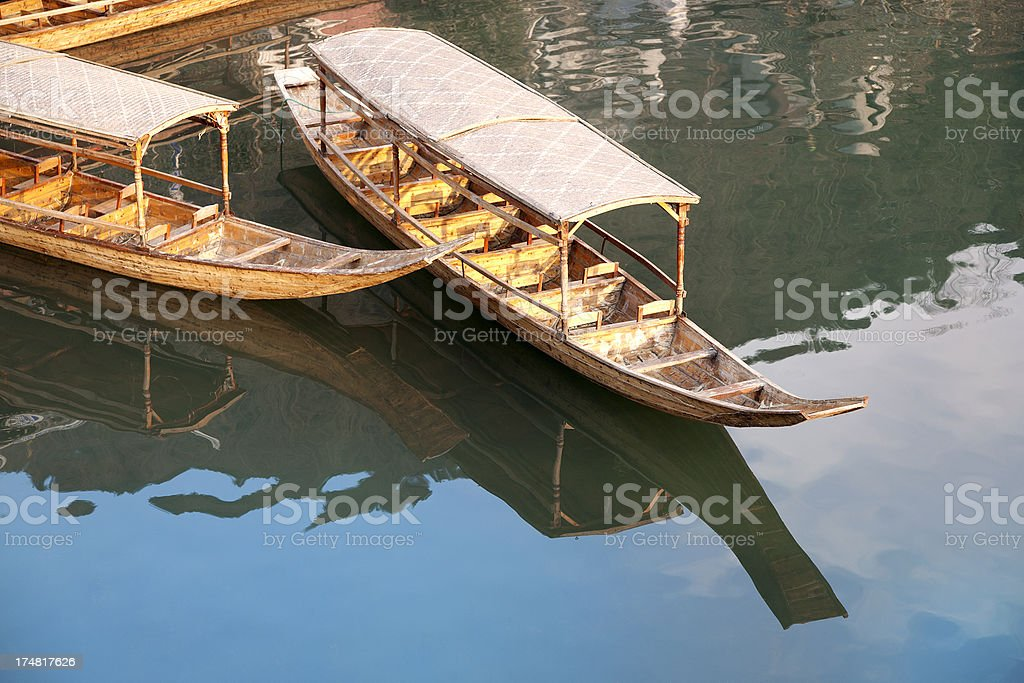 Traditional Chinese boats royalty-free stock photo
