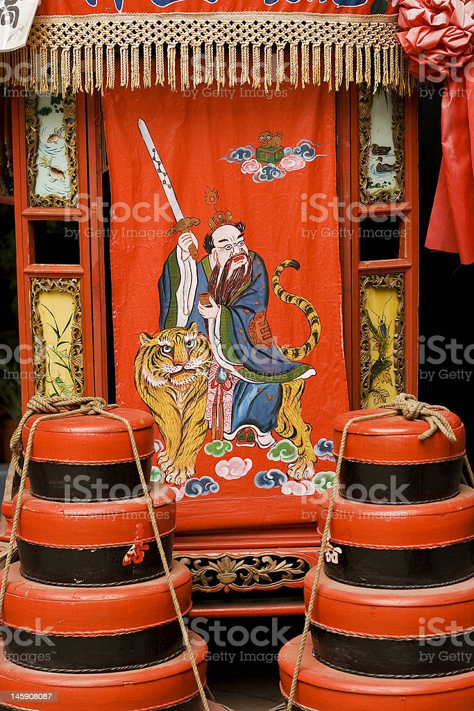 traditional Chinese bride palanquin royalty-free stock photo
