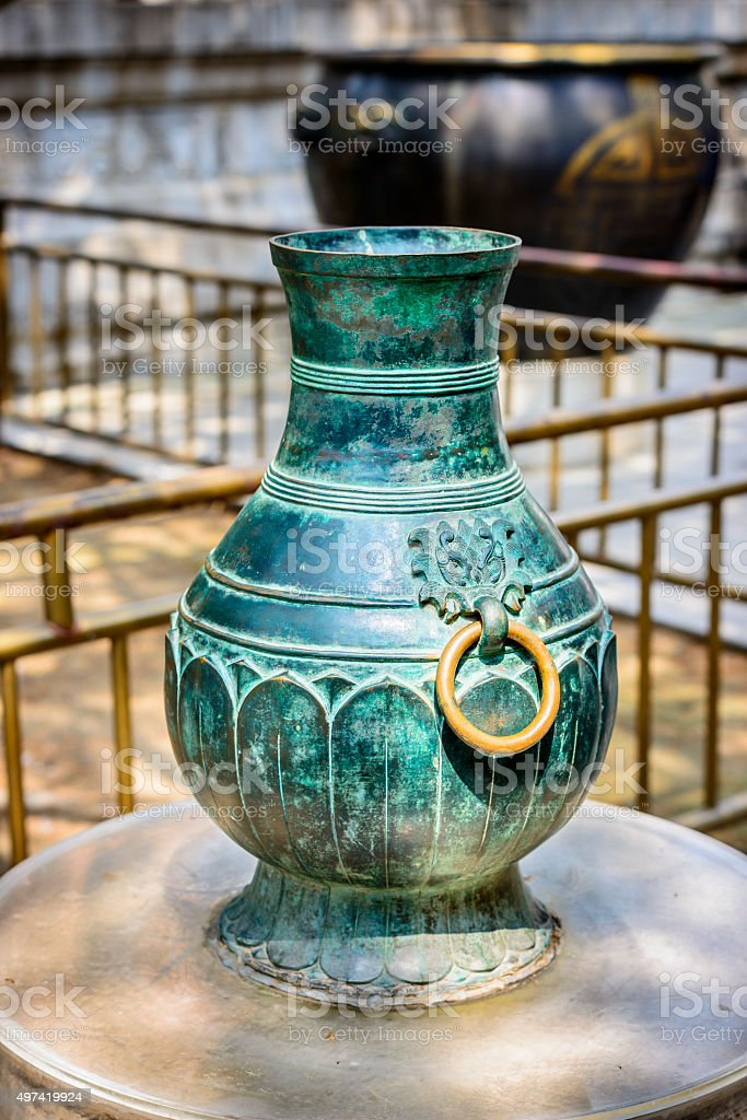 Traditional Chinese bronze ware stock photo