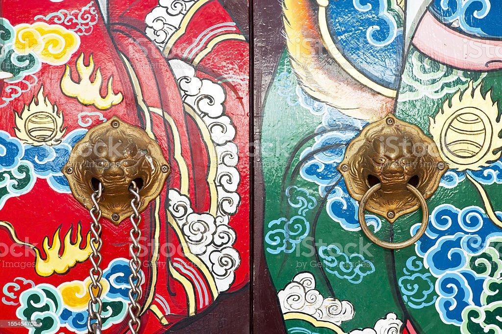 Chiński tradycyjny knockers drzwi zbiór zdjęć royalty-free