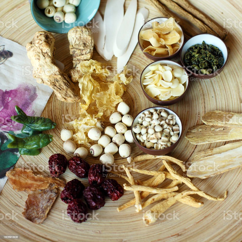 Traditional Chinese Herbal Medicine royalty-free stock photo