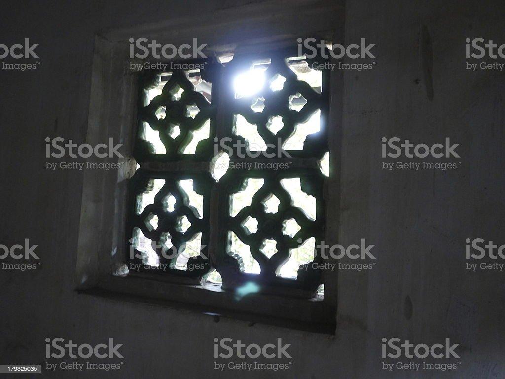 Fenêtre de maison traditionnelle chinoise photo libre de droits