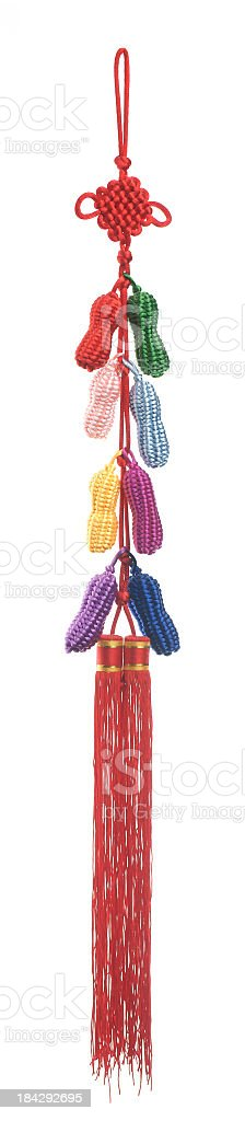 Traditional Chinese knotted decoration. stock photo