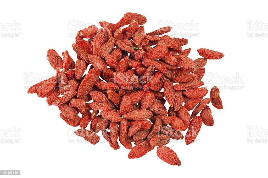 Traditional Chinese Medicine - Goji berries royalty-free stock photo