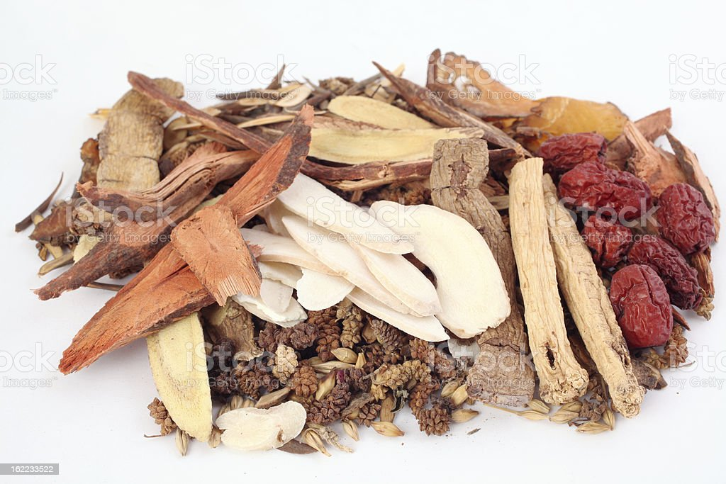 Traditional Chinese Medicine Herbs royalty-free stock photo