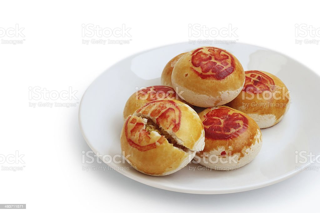 traditional Chinese mooncake royalty-free stock photo