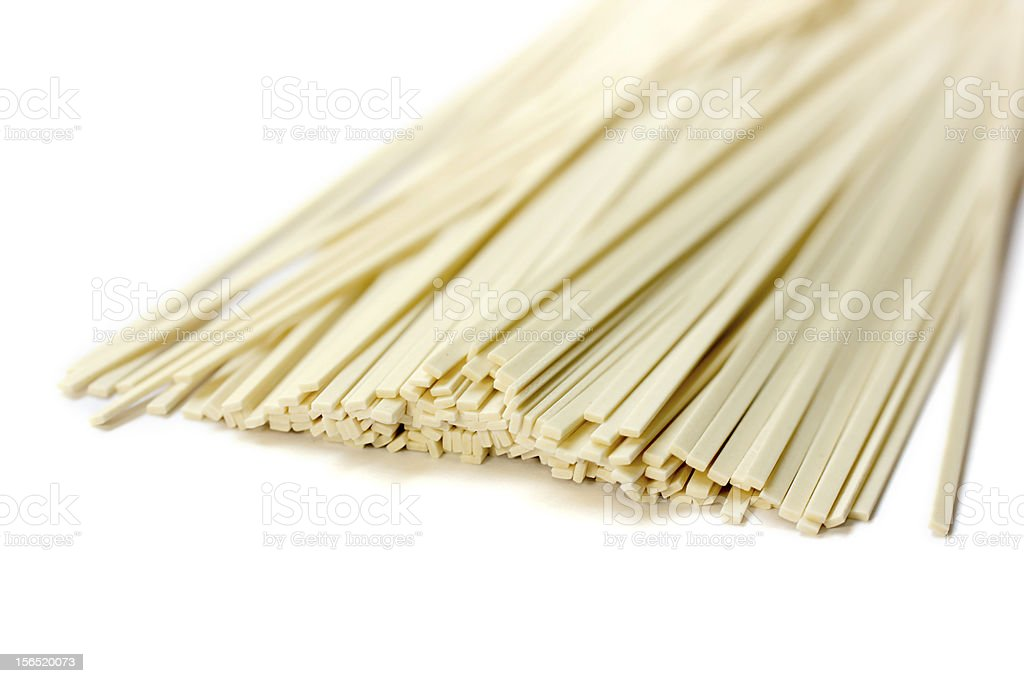 Traditional Chinese Noodles on White Background royalty-free stock photo