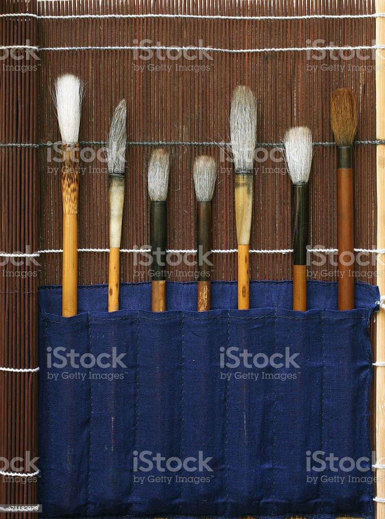 Traditional Chinese Paintbrush royalty-free stock photo