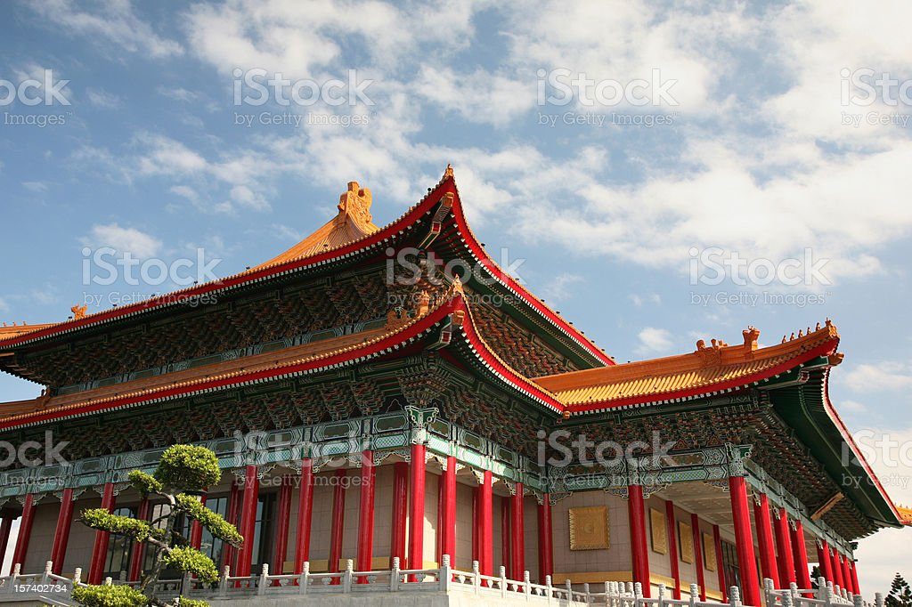 Traditional Chinese Palace Architecture royalty-free stock photo