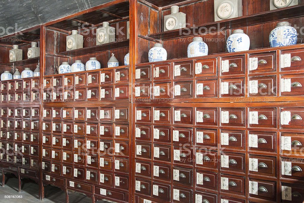 traditional Chinese Pharmacy stock photo