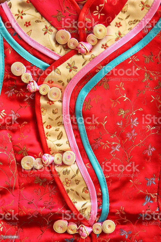 Traditional Chinese style dress royalty-free stock photo