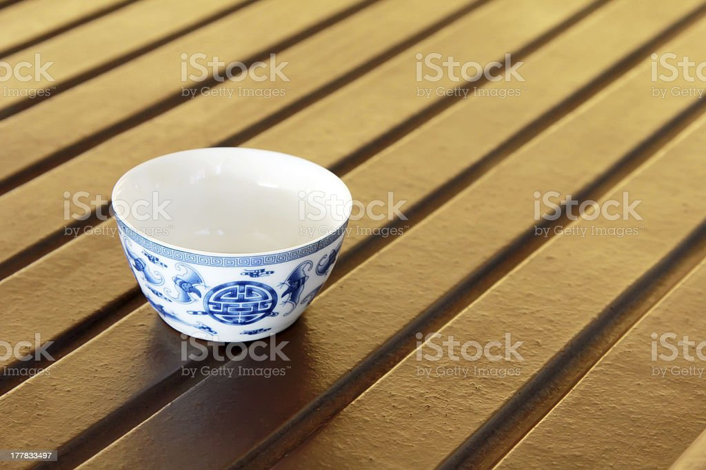 traditional Chinese tea cup royalty-free stock photo