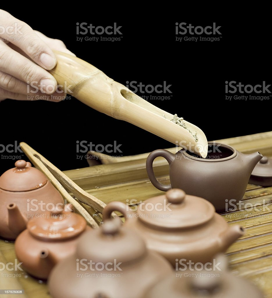 Traditional Chinese Tea Making stock photo