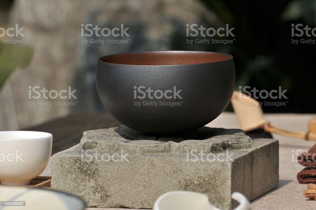 Traditional Chinese Tea Pot Set stock photo