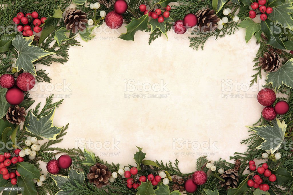 Traditional Christmas Border royalty-free stock photo