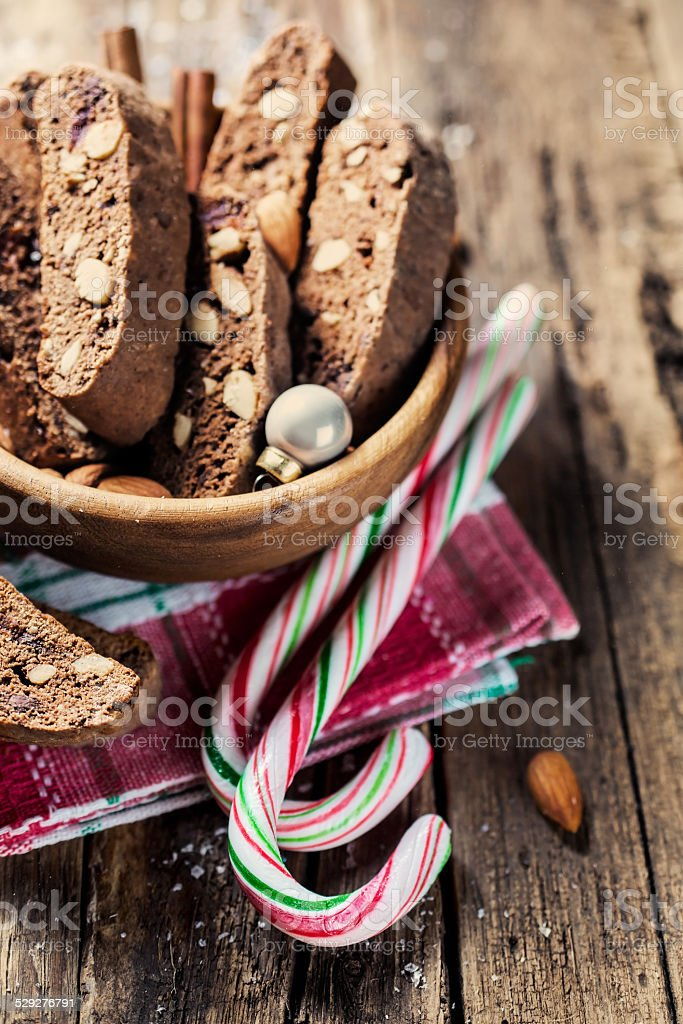 Traditional christmas candy cane stock photo