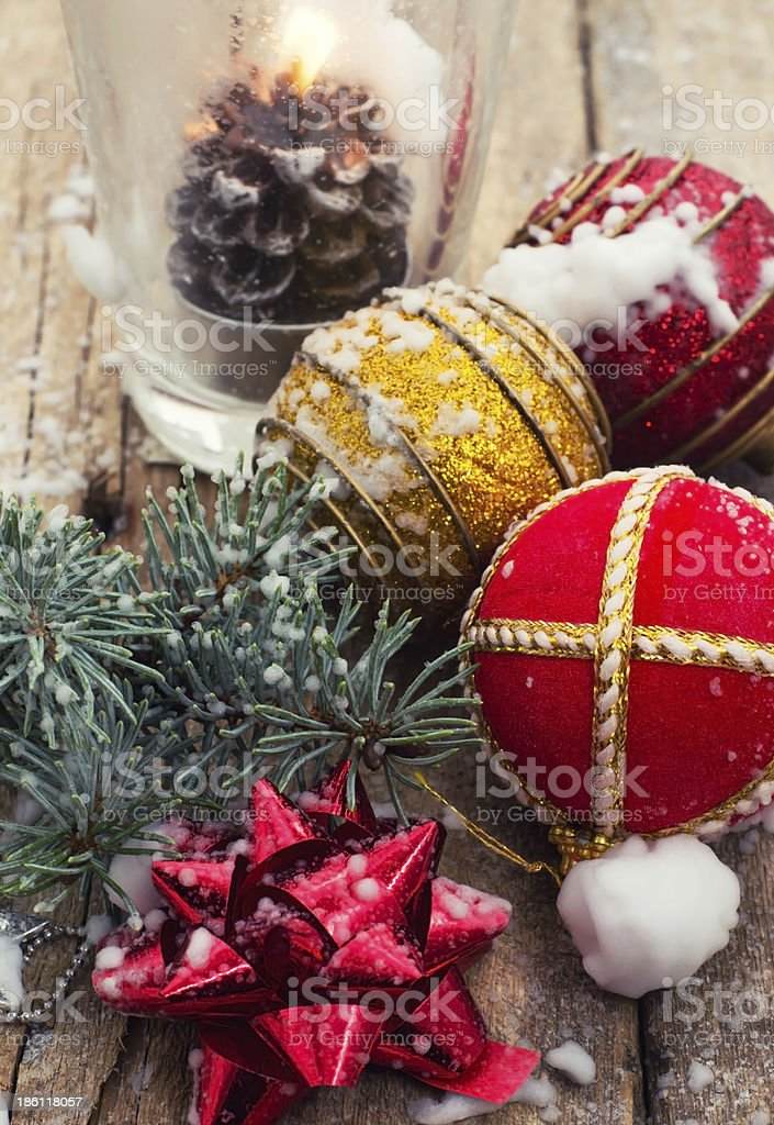 traditional Christmas decorations royalty-free stock photo