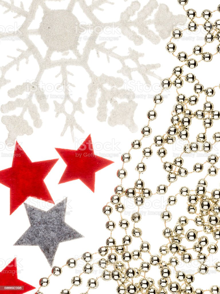 traditional Christmas holiday decorations stock photo
