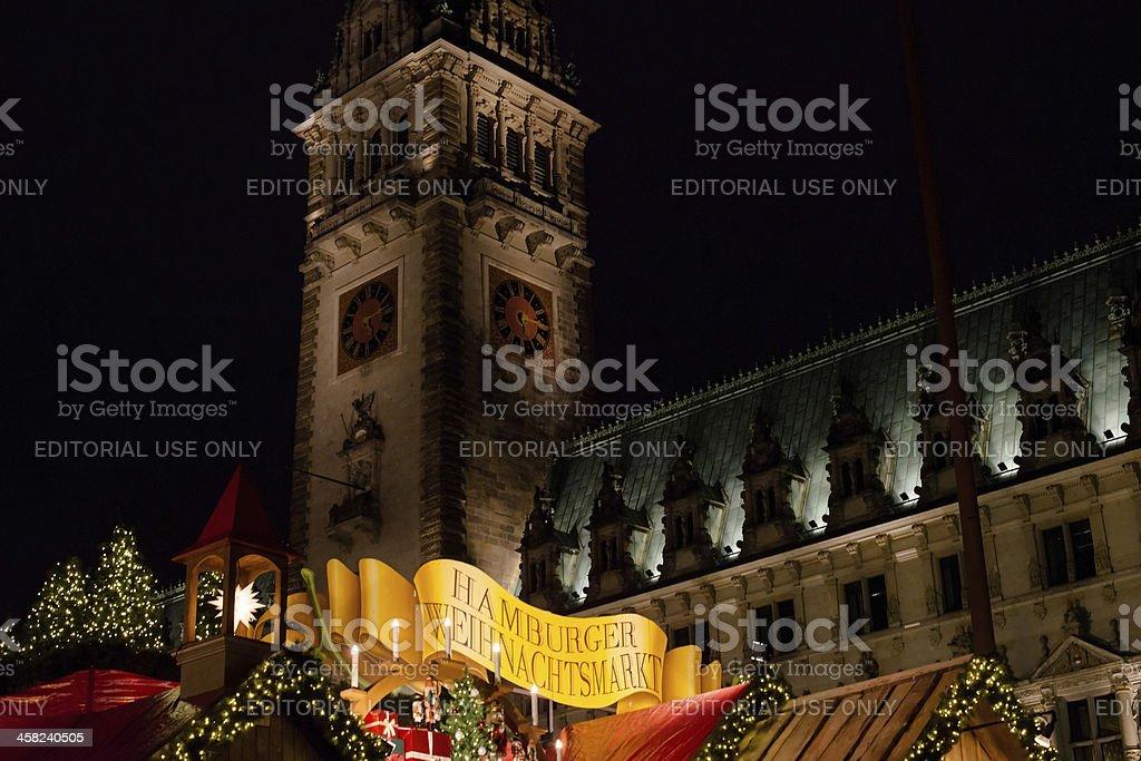 traditional christmas market in Hamburg, Germany royalty-free stock photo