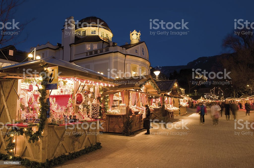 Traditional Christmas market royalty-free stock photo