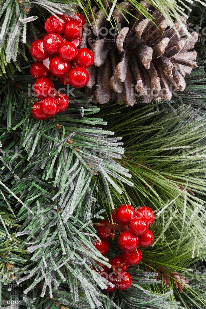 Traditionnel de Noël pomme de pin et des fruits rouges photo libre de droits