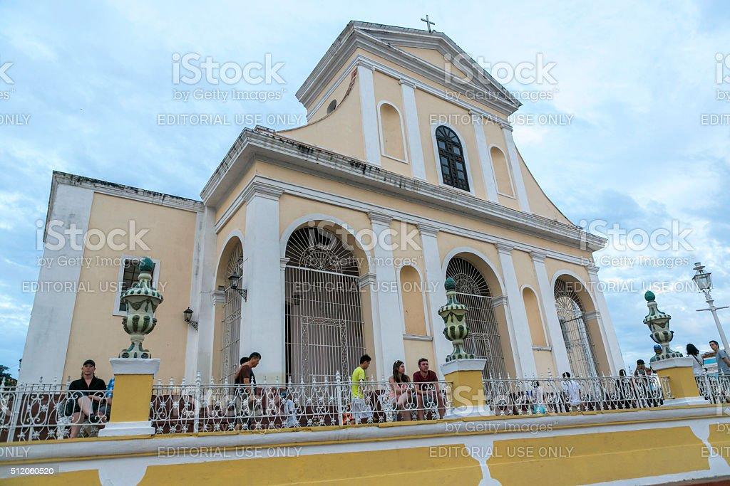 Traditional church building at city center of trinidad cuba stock photo