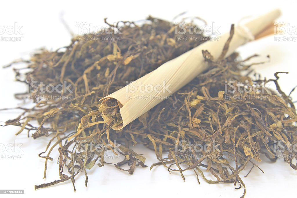 Traditional cigarettes and tobacco stock photo