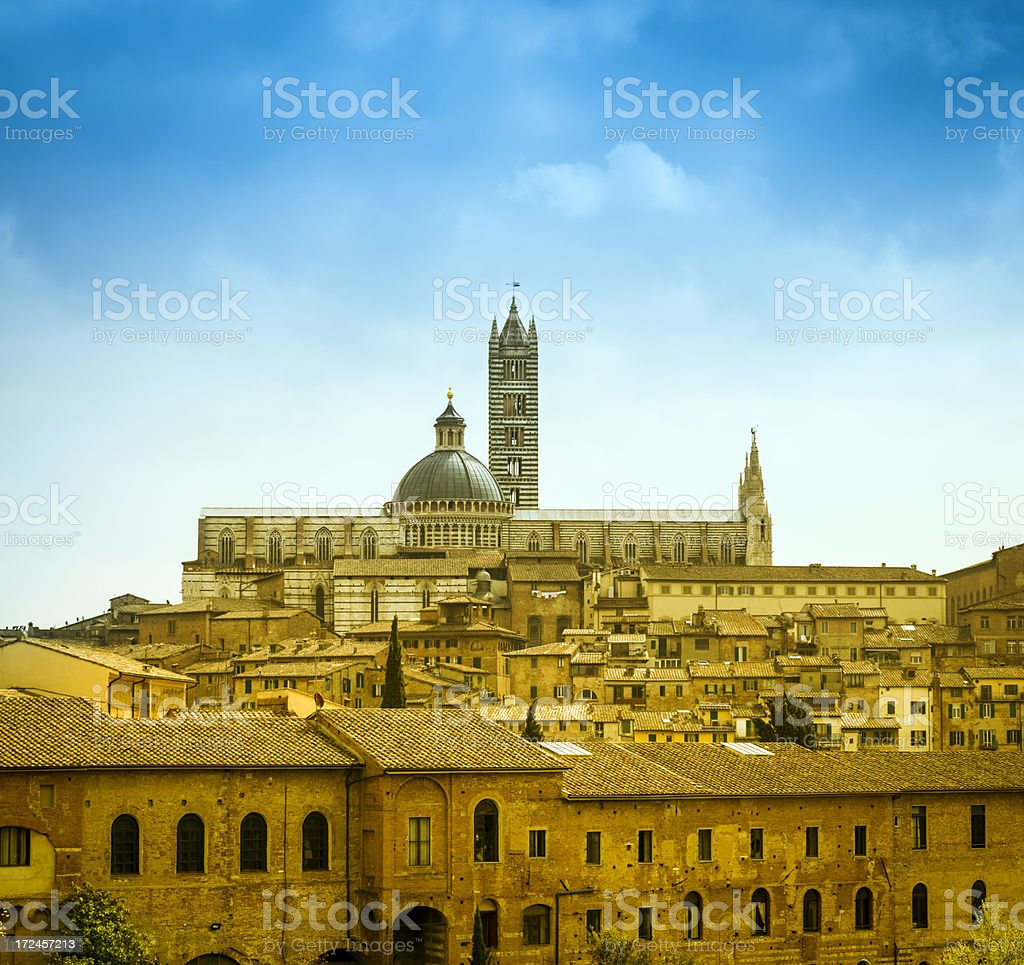 Traditional city of Siena, Italy royalty-free stock photo