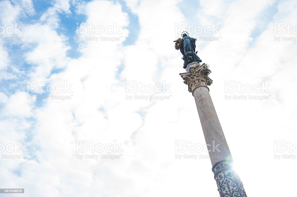 Traditional cityscape in Rome,Italy stock photo