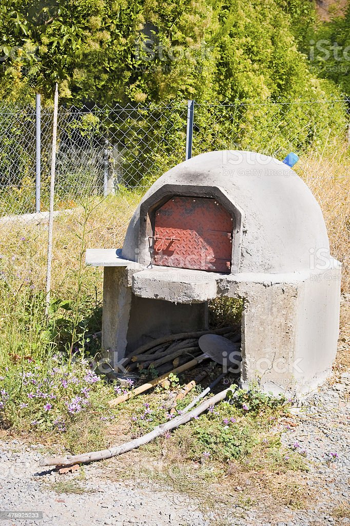 Traditional Clay Oven, Cyprus stock photo