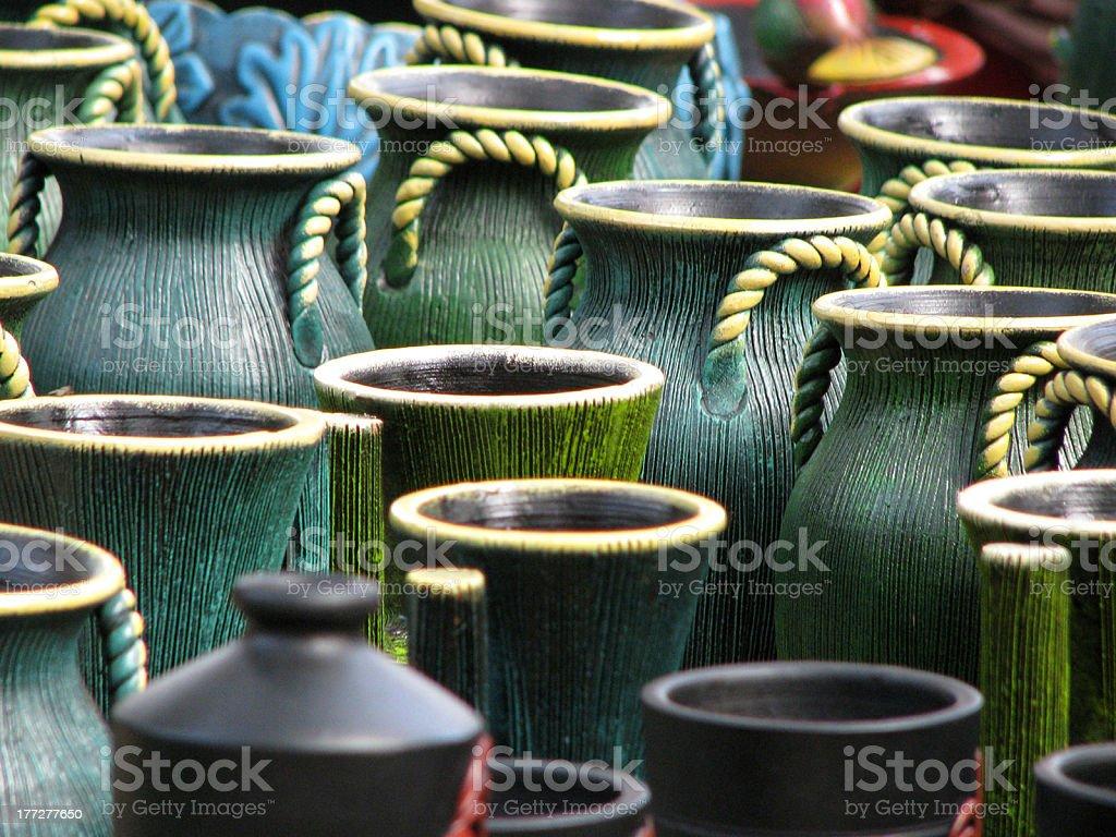 Traditional Clay Pots royalty-free stock photo