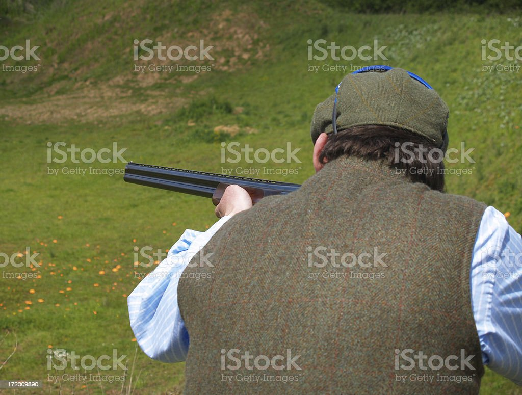 Traditional  Clay Shooting royalty-free stock photo
