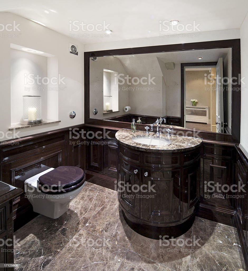 traditional cloakroom stock photo