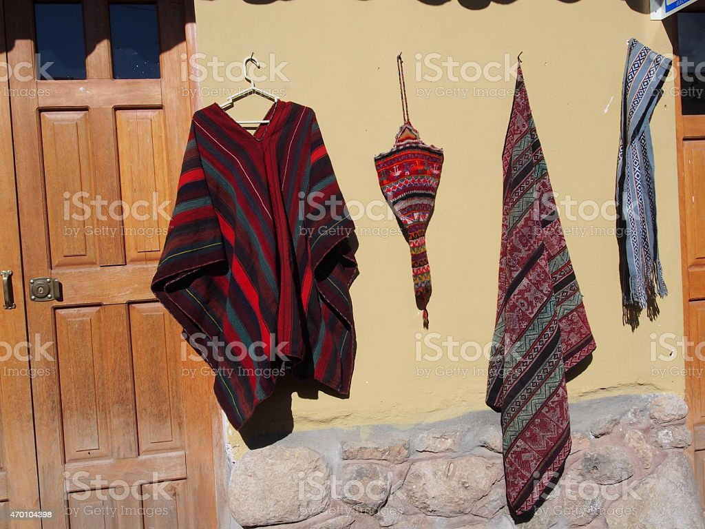 Traditional clothes Peru stock photo