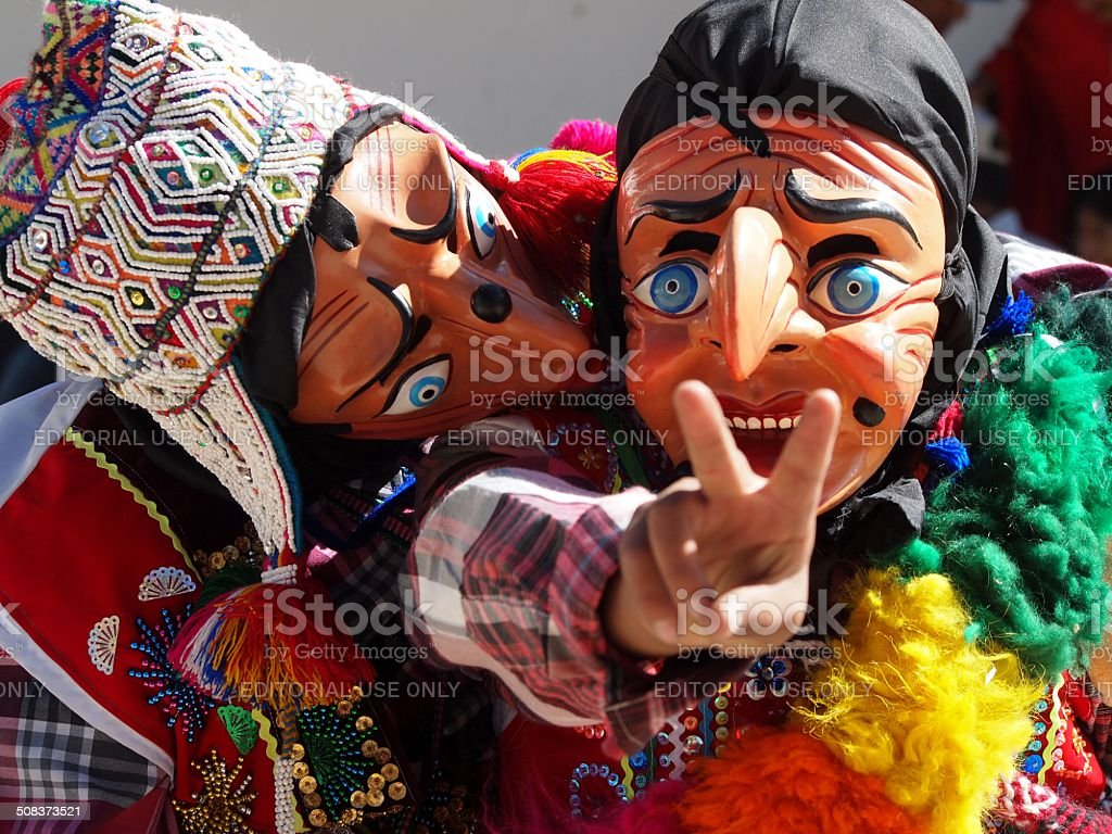 Traditional Clowns having fun royalty-free stock photo
